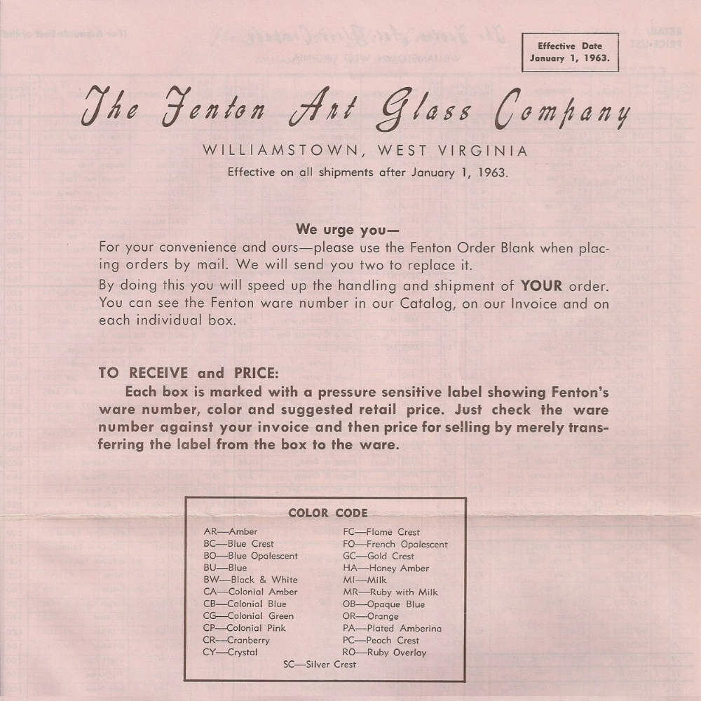 1963 January Price Guide - PINK