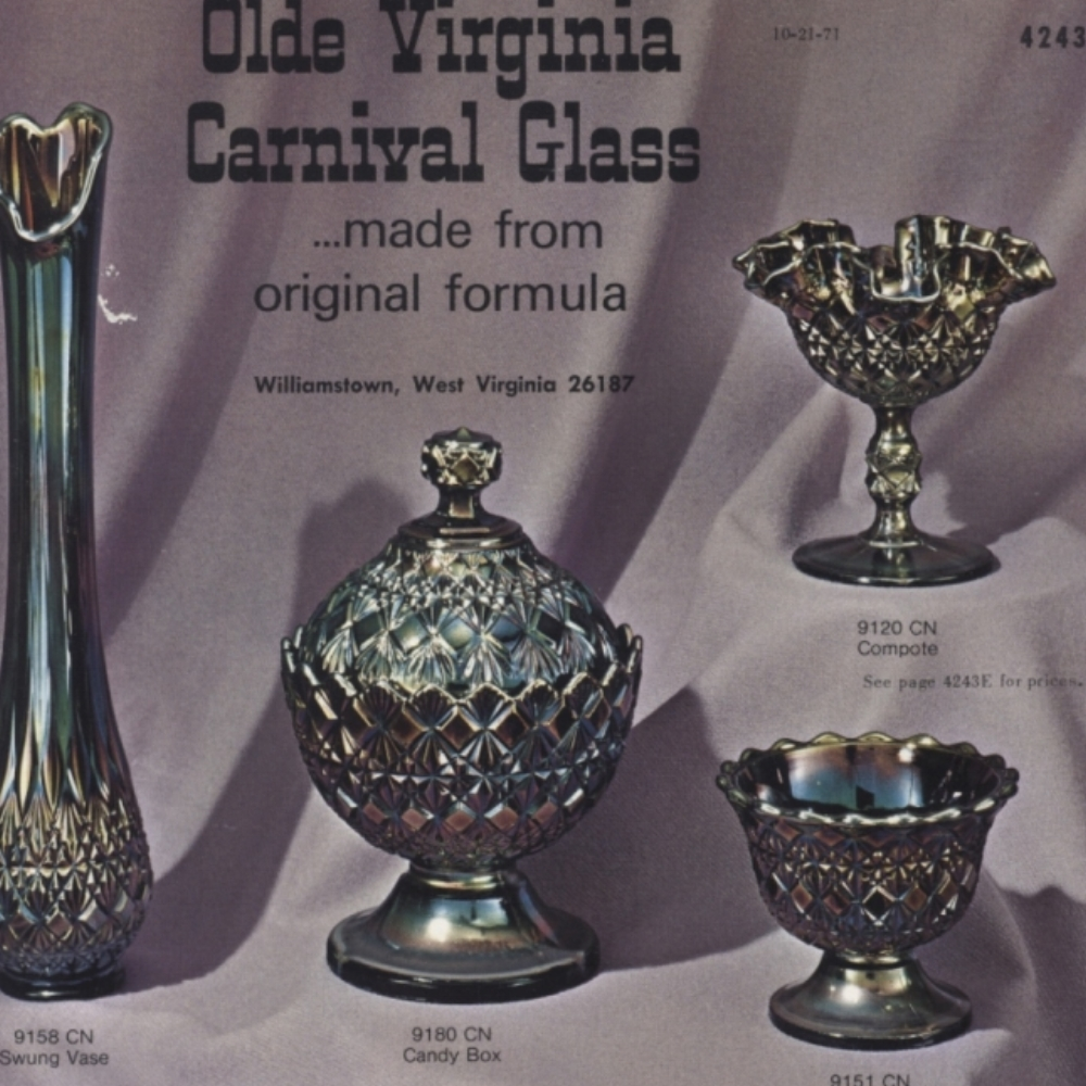 1971 Olde Virginia Carnival Glass