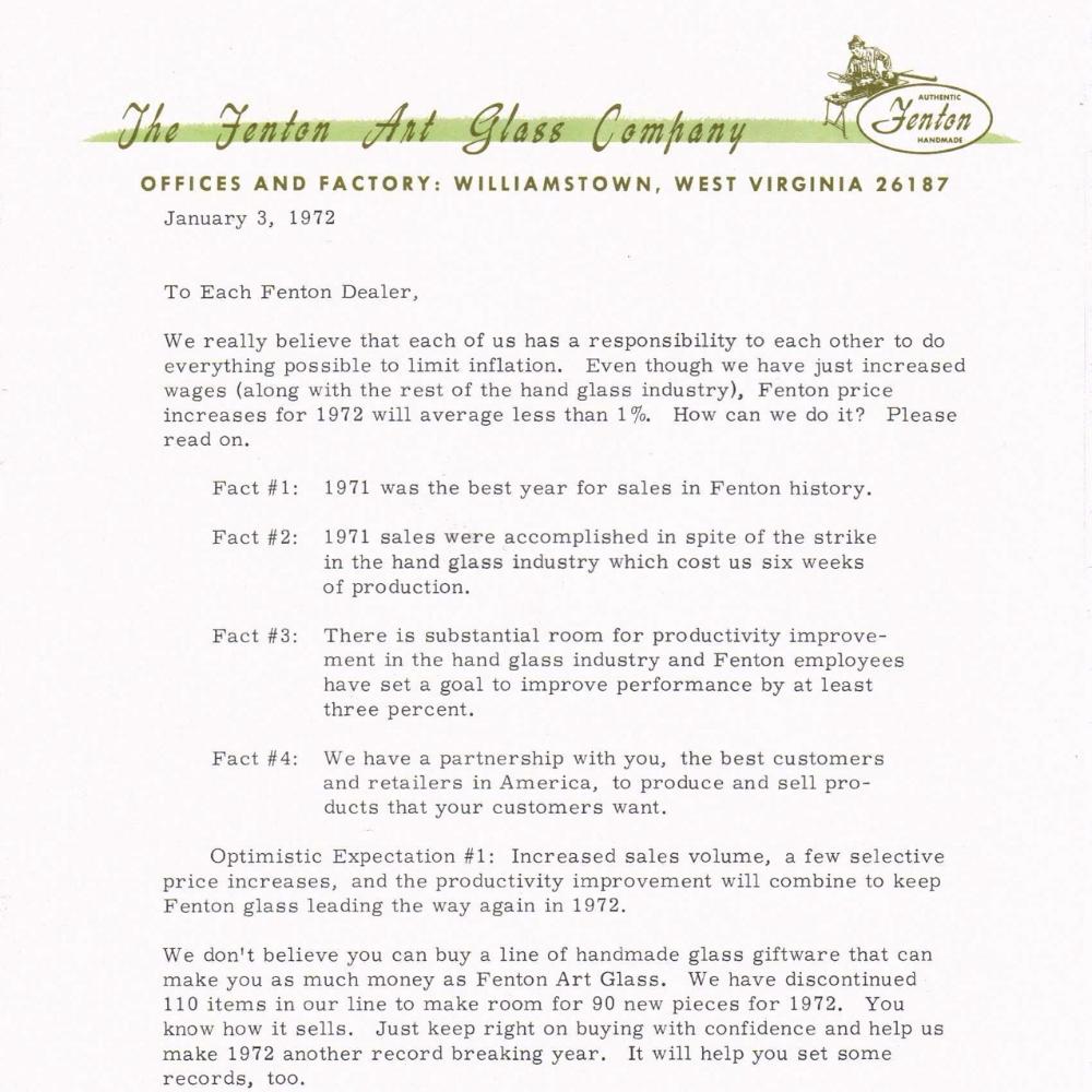 1972 Sales Letter
