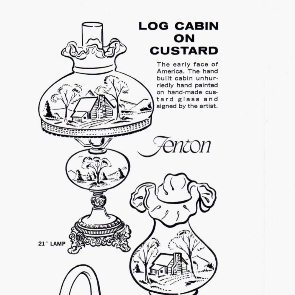 1976 Insert Log Cabin on Custard
