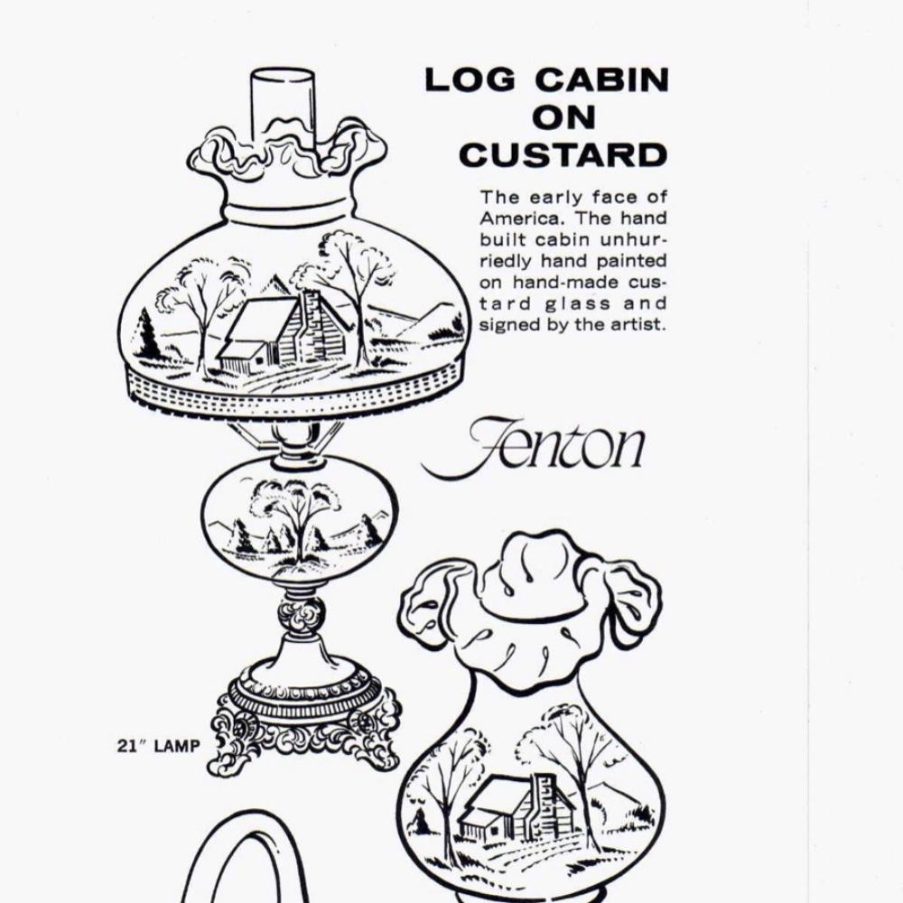 1976 Insert Log Cabin on Custard