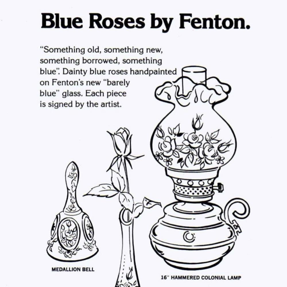 1978 Insert Blue Roses