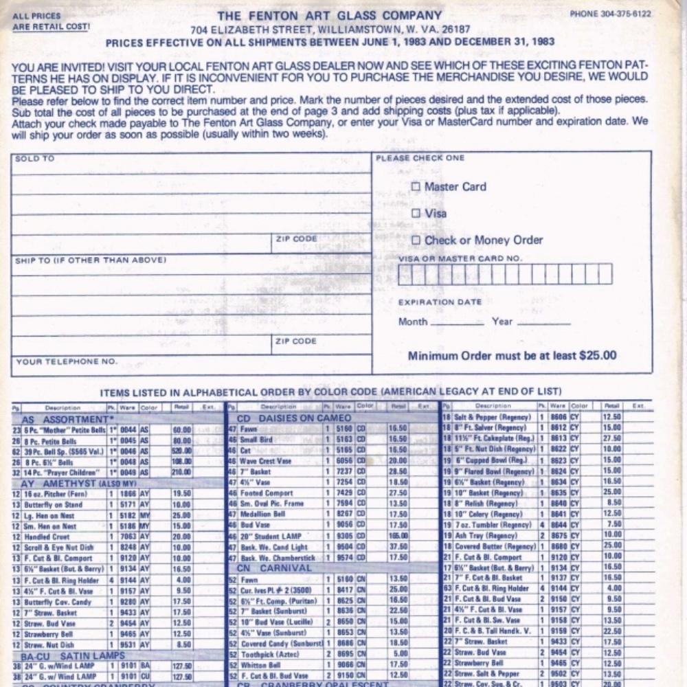 1983 June Price Guide Blue