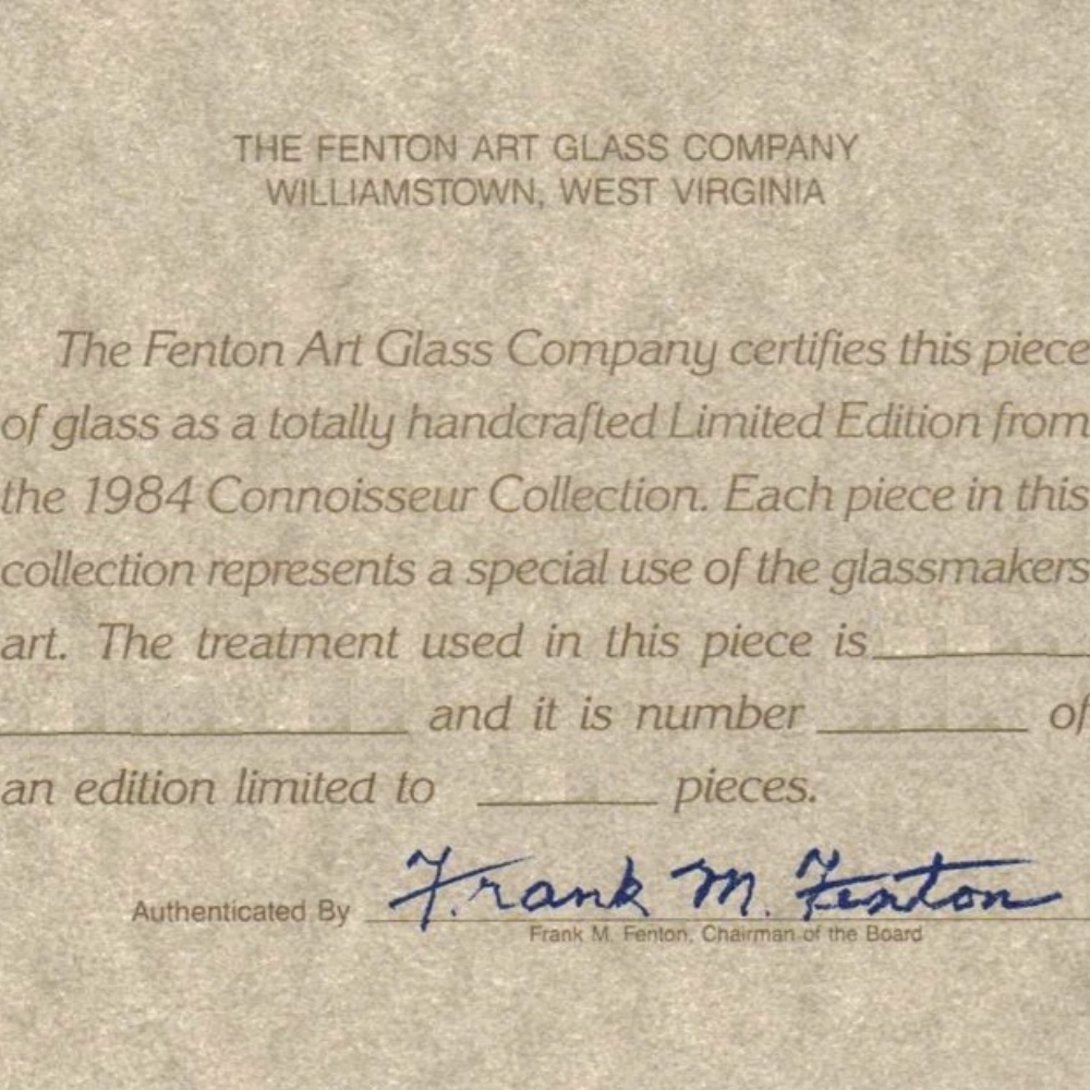 1984 Connoisseur Collection Card