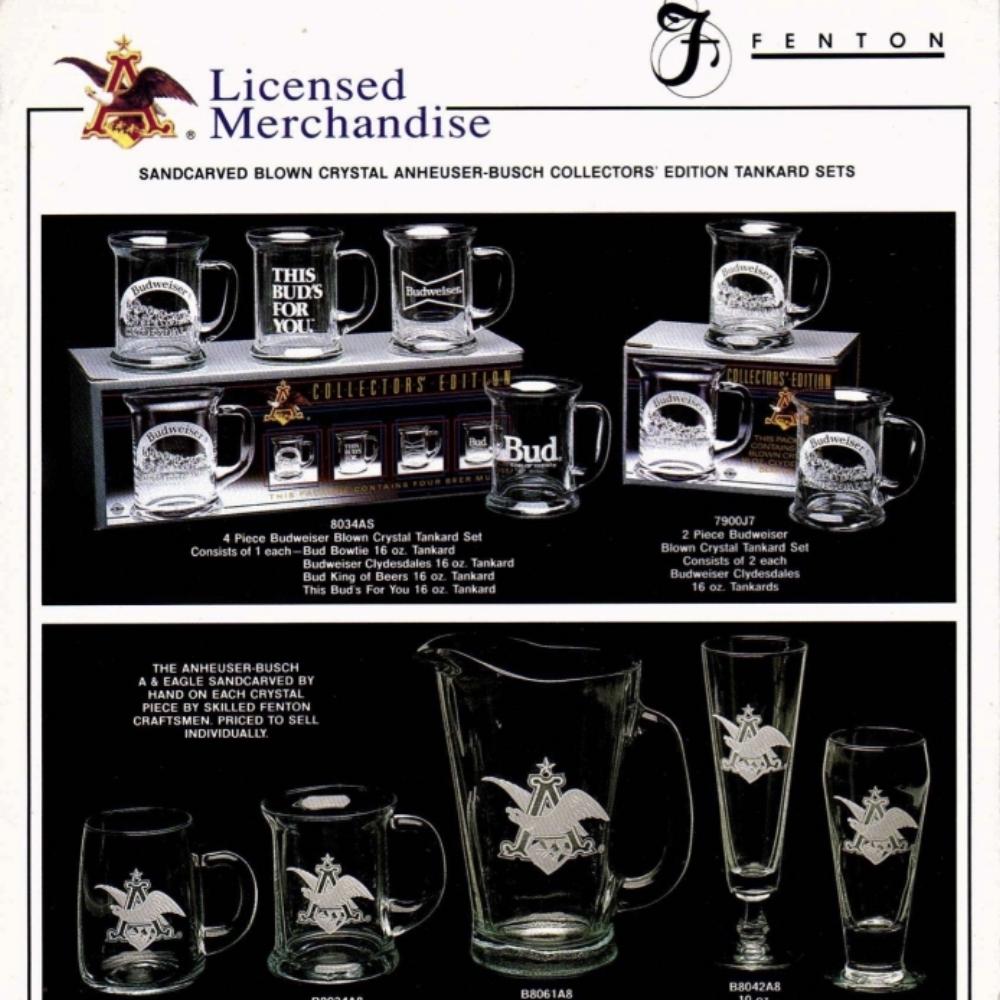 1989 Bud & Busch Mugs