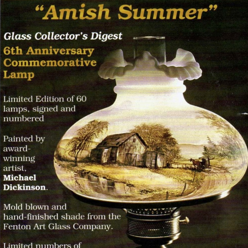1993 Glass Collectors Lamp
