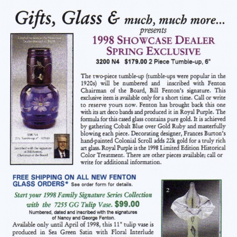 1998 Showcase Dealer Exclusive