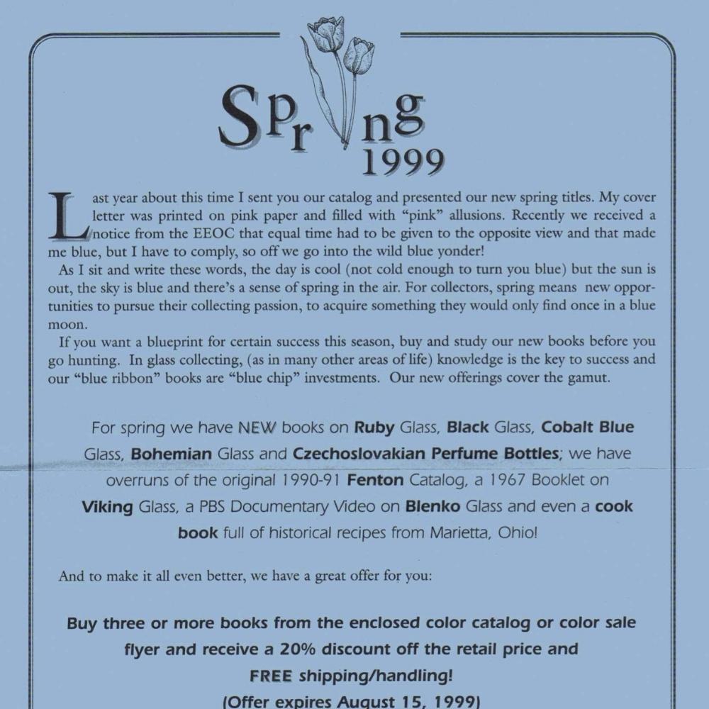 1999 Book Letter