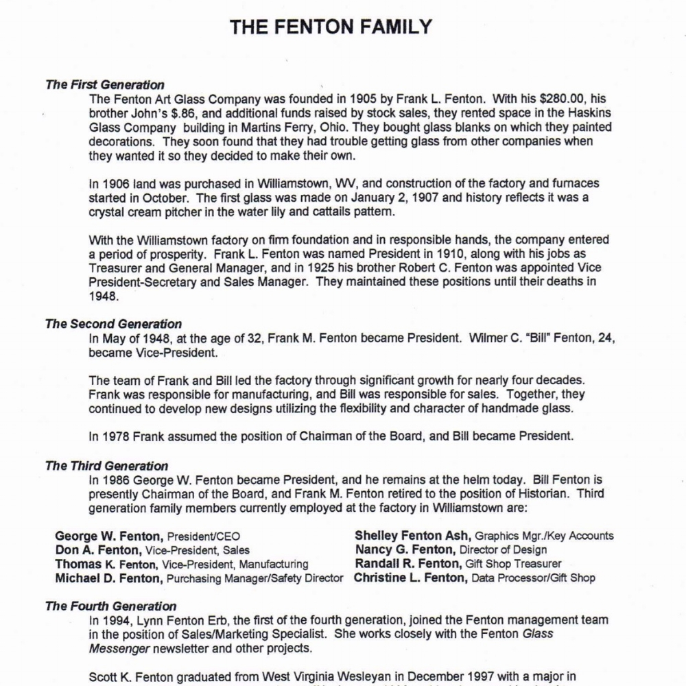 1999 Who is Fenton