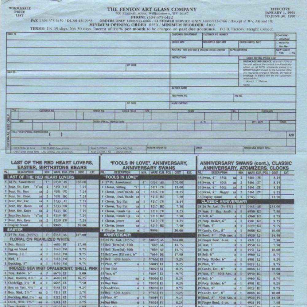 1991 Jan-June Price Guide