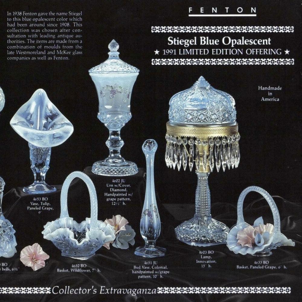 1991 Stiegel Blue Opalescent 1