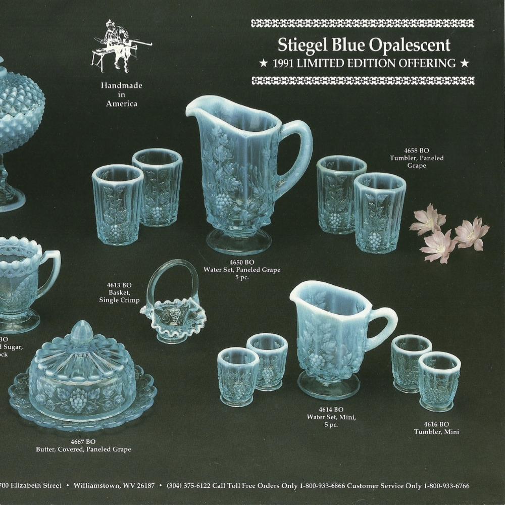 1991 Stiegel Blue Opalescent 2