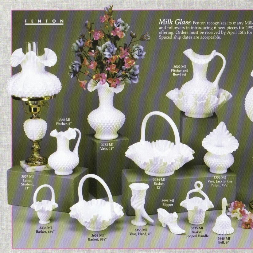 1992 Milk Glass