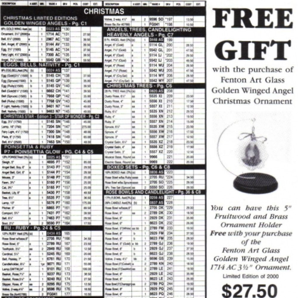 1996 Christmas Price Guide