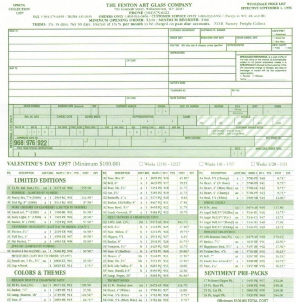 1997 Spring Price Guide