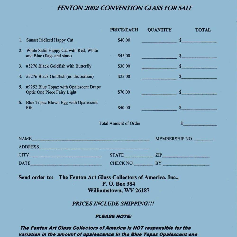 2002 FAGCA Conv Price Guide