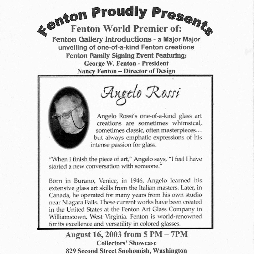 2003 Angelo Rossi Event