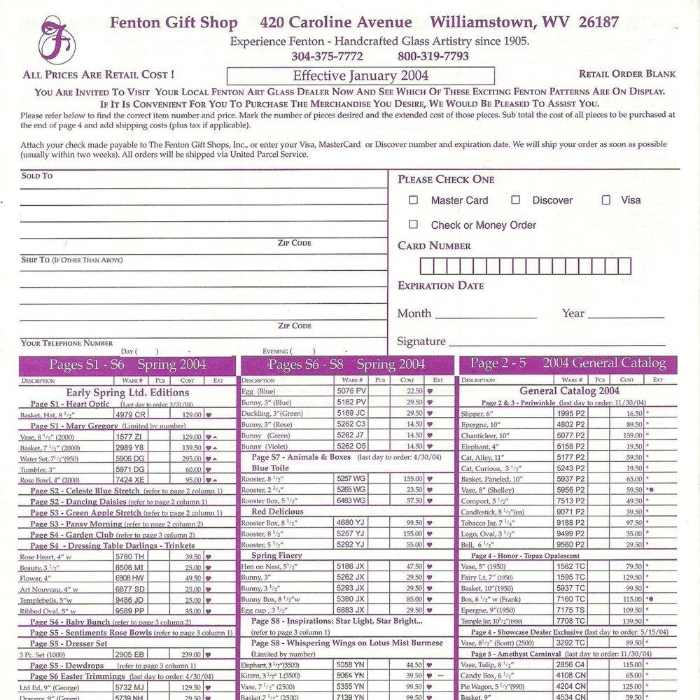 2004 Price Guide