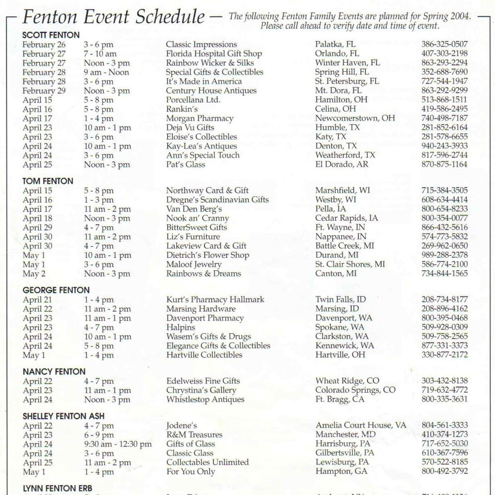 2004 Spring Fenton Events