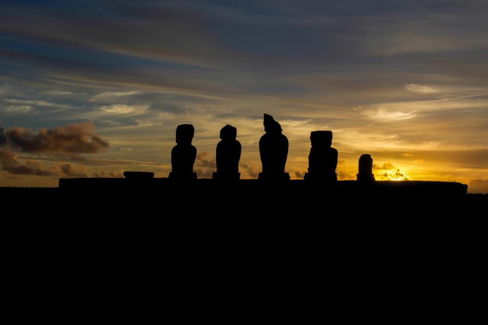 Moai Sunset - Ahu Tahai (Easter Island, Chile)