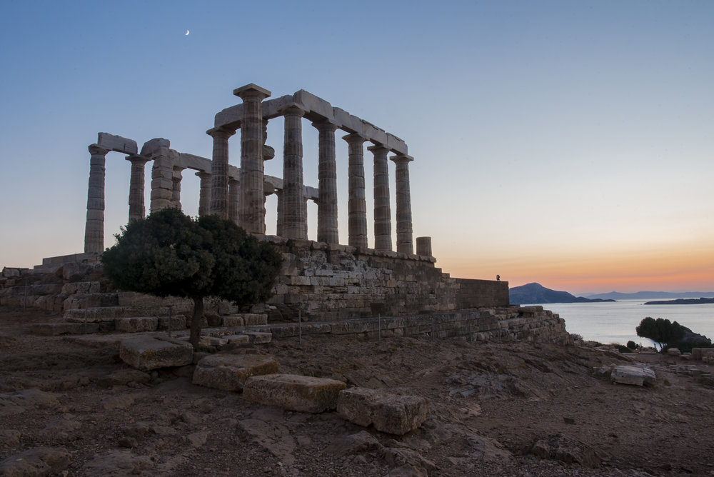 Greek Sunset - Temple of Poseidon (Sounio, Greece)