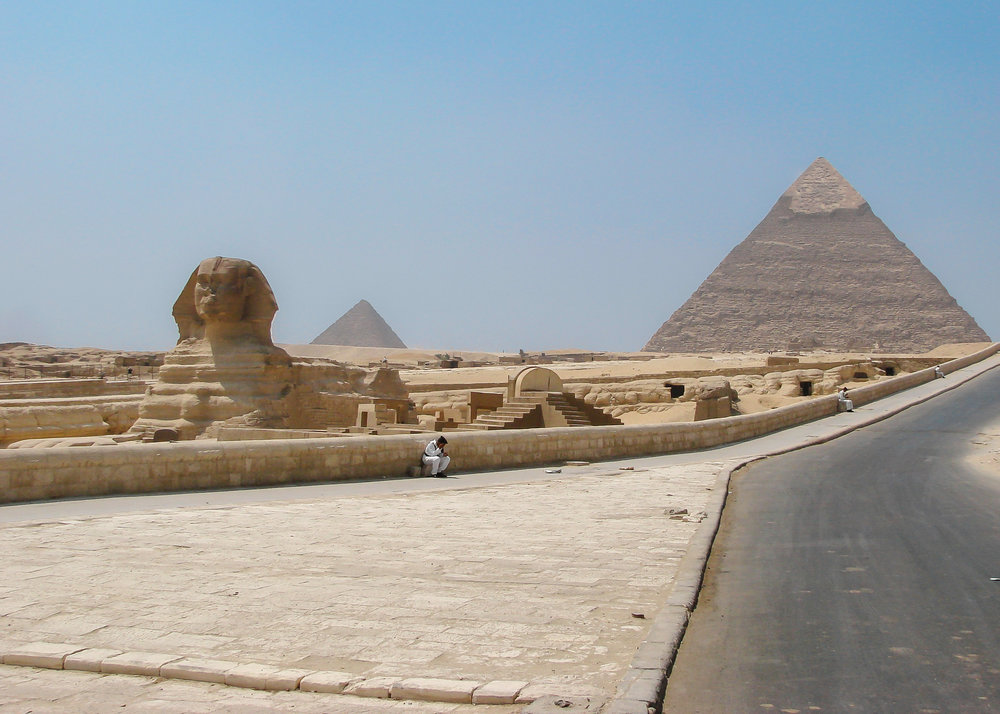 Great Sphinx and Pyramid