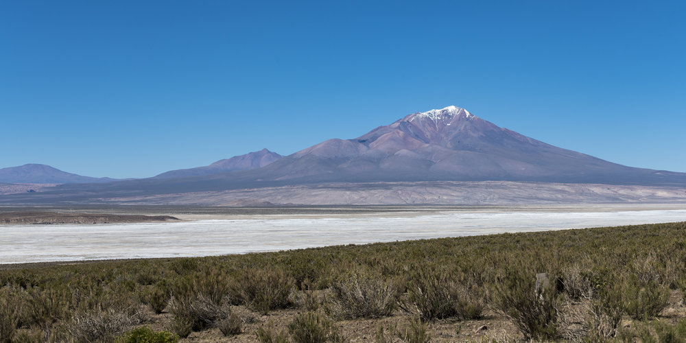 Bolivian Mountain and Salt Flat