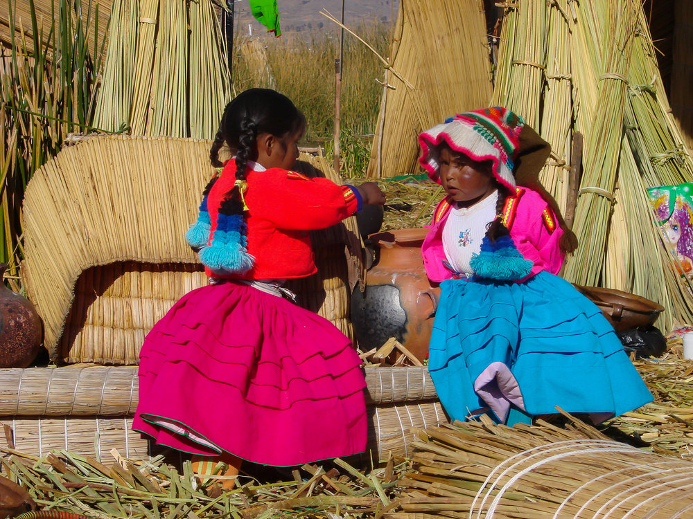 Uros Children- Lake Titicaca