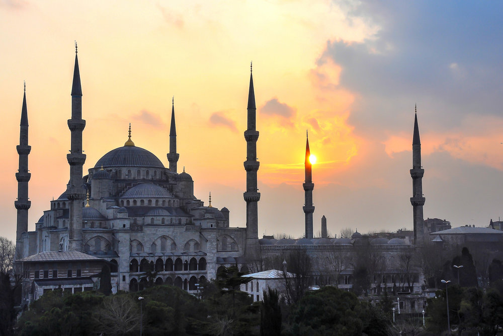 Ottoman Sunset - Blue Mosque (Istanbul, Turkey)