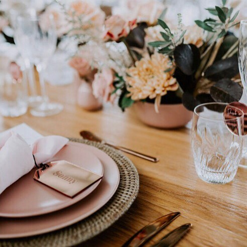 Our table details at @ardeenaevents with a little help from our friends, flowers by the lovely @byronstyleco photography @pineappleimages stationary @littlegreenleaf_aus  hire @frankandjoy planning, styling and coordination by us @eventstylistandco