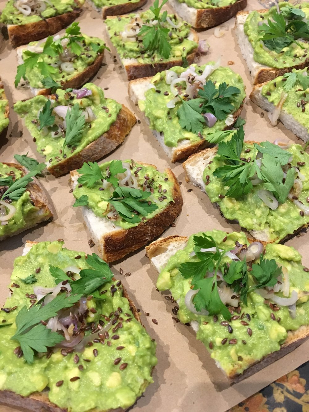 Avocado Toast from Kalecart at event