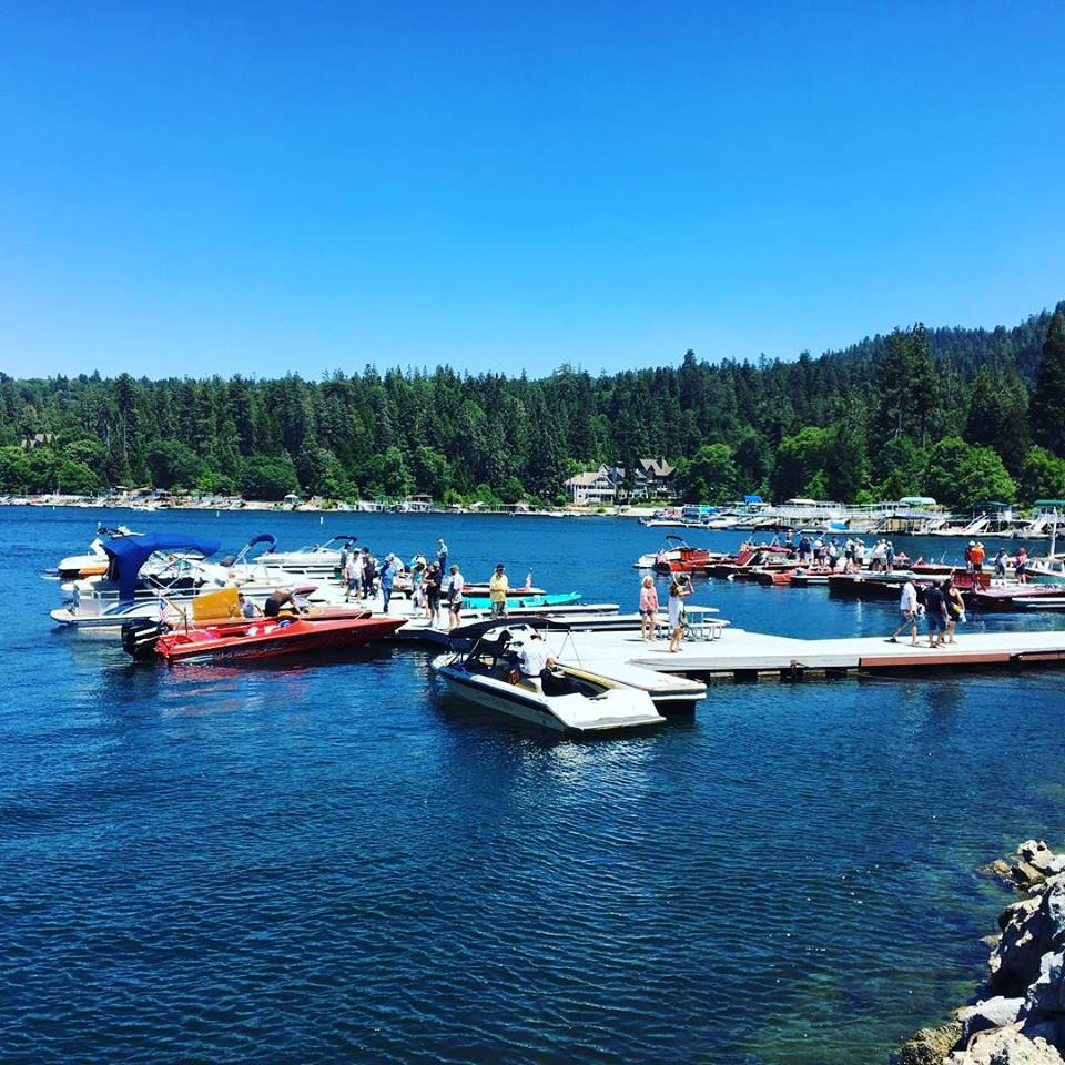 Kala Maxym visits Lake Arrowhead in the summer