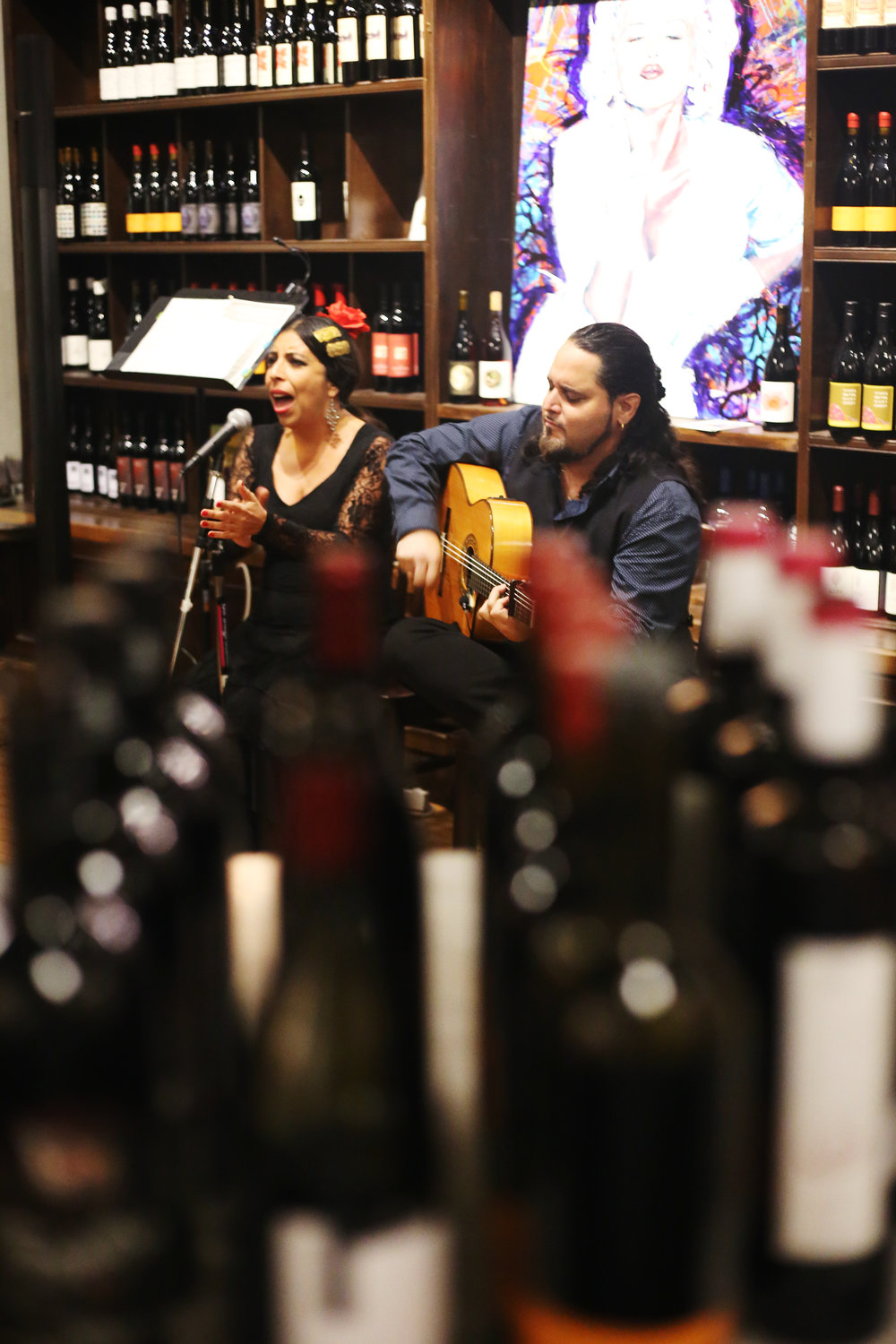 Flamenco and Wine at V Wine Room.JPG