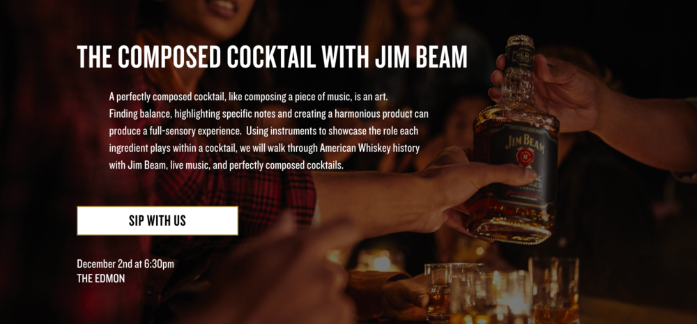The Composed Cocktail with Jim Beam and Song & Tonic