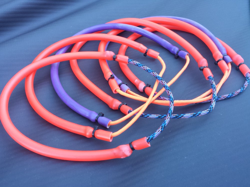 Replacement slings in various colors ( orange, purple, black .. darker colors resist UV damage better )