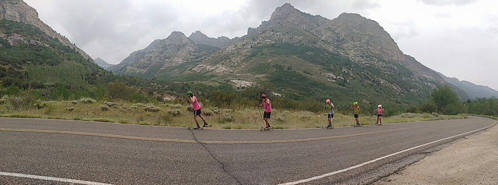 (Peak way in the distance, toward the left, is Mt Fitzgerald!)