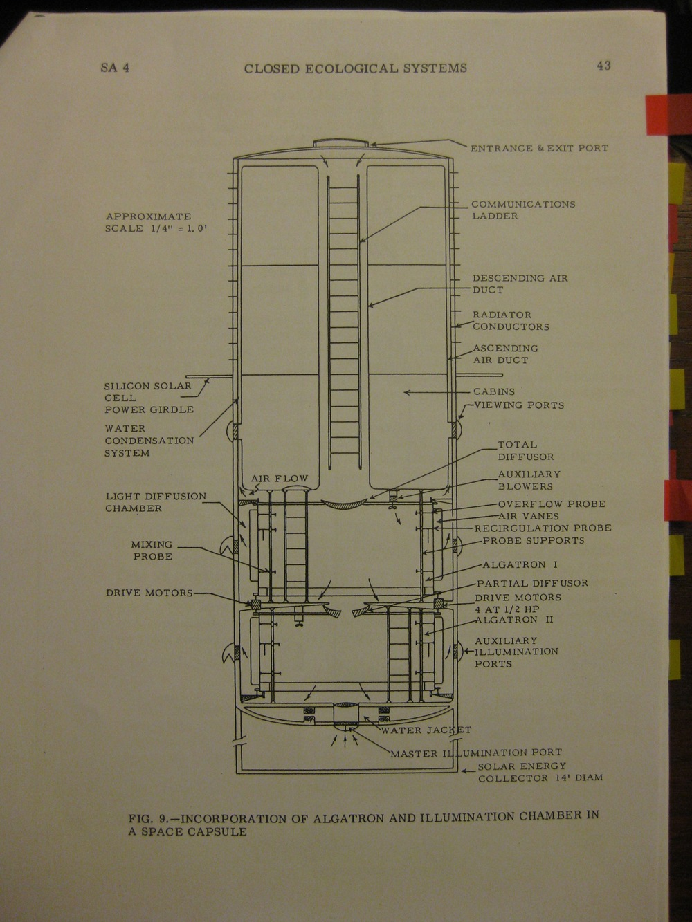 PLAN FOR THE ALGATRON MODULE FOR THE APOLLO MISSIONS CIRCA 1965.