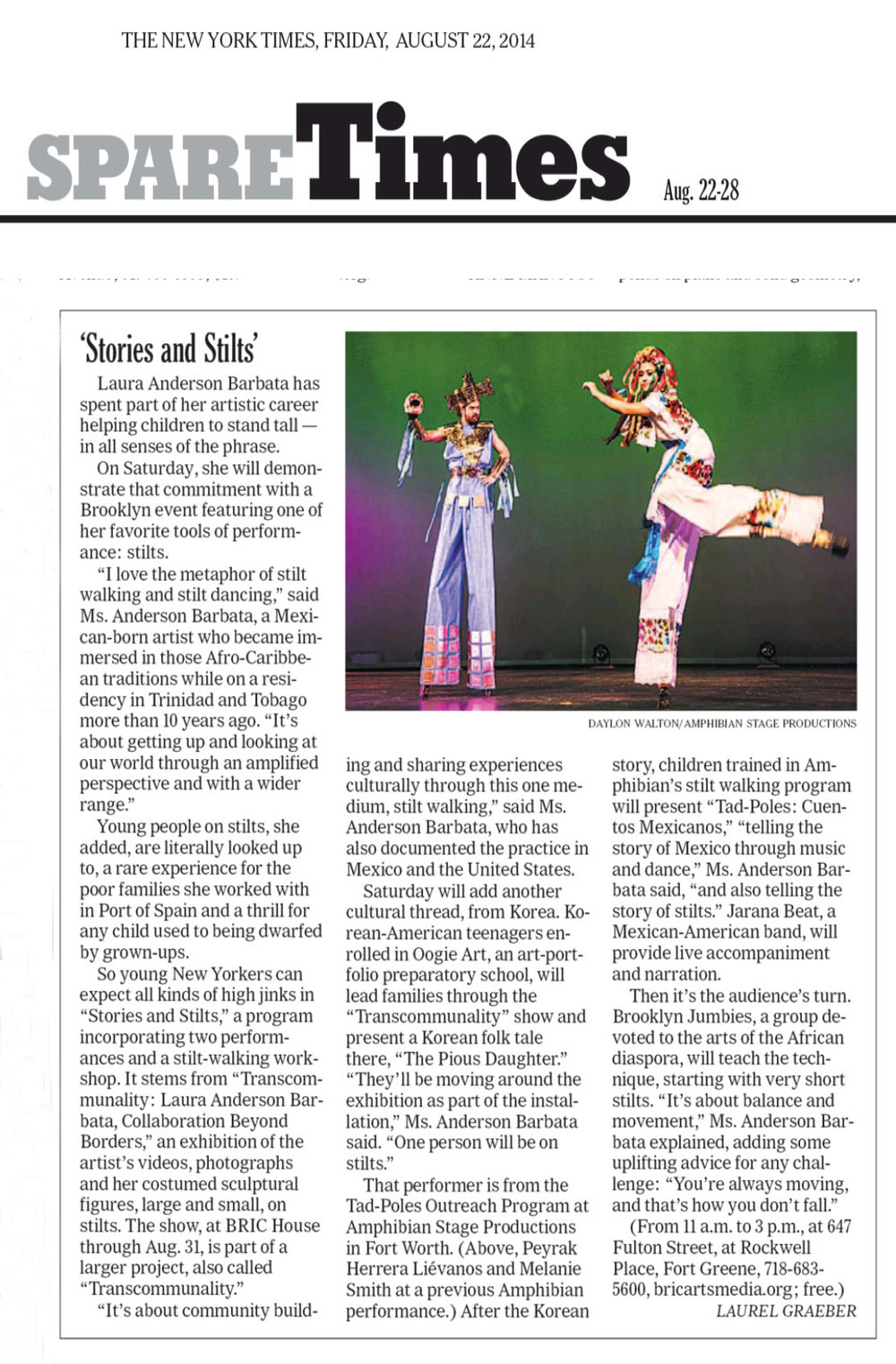 NY Times 2014 stilts and stories.jpg