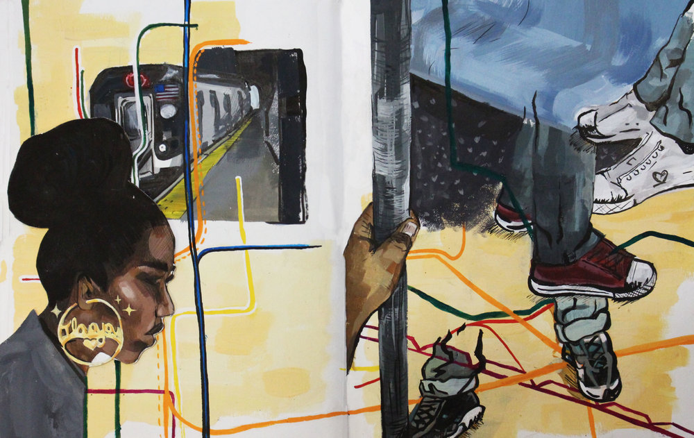 Maya Dixon's piece, 'Train', as part of her Finalist portfolio submitted to YoungArts 2018
