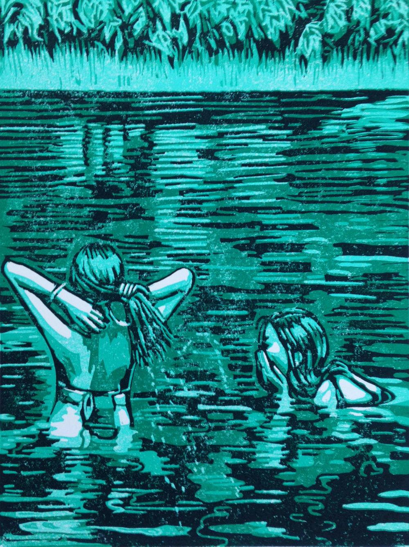 A Dip in Green