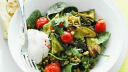 Eggplant & Lentil Salad