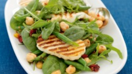 Haloumi, Rocket & Chickpea Salad