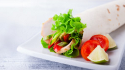 Cheese, Turkey & Salad Wrap