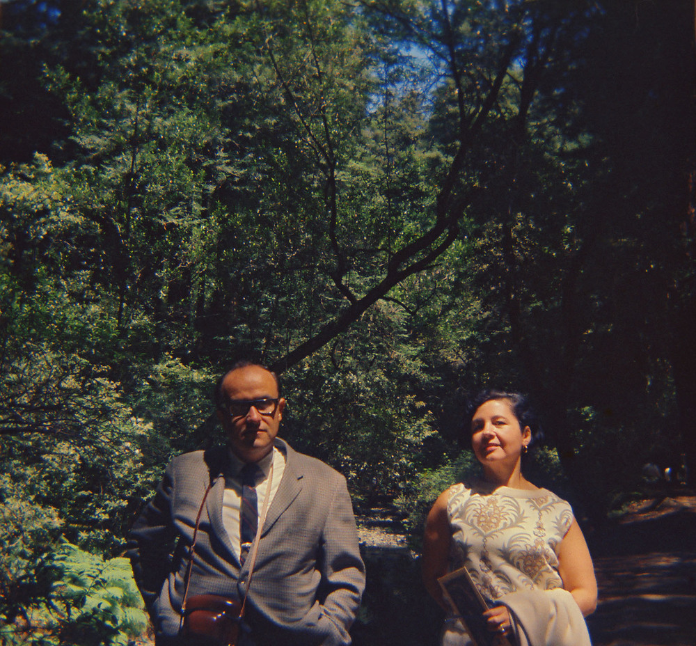 Here's an early double portrait of my father and mother in the Muir Woods in San Francisco. We were all there in the Summer of Love - it was 1967 - ironically their relationship was coming apart. I think you can see that a bit in the picture.