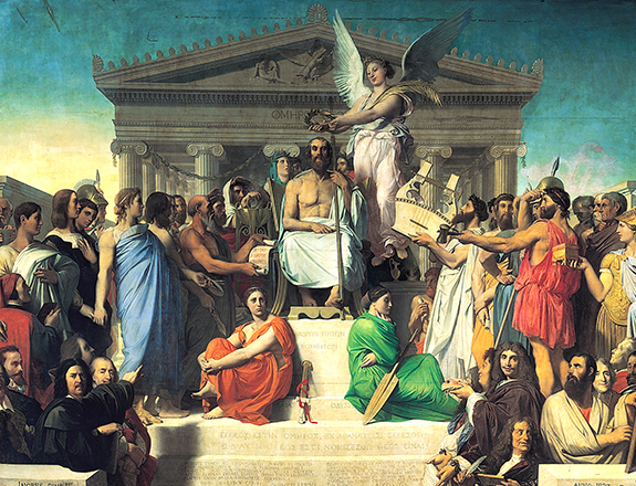 The Apotheosis of Homer  Jean-Auguste-Dominique Ingres 1827