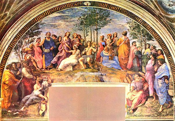 The Parnassus  1511 Raphael
