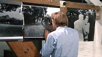 Blow-Up  David Hemmings as Thomas looks for clues.