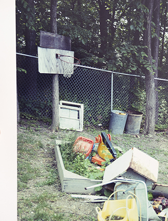 Richard Prince  Untitled (Basketball Hoop and Trash)