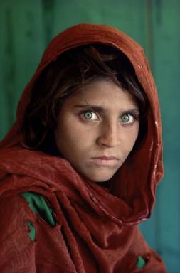 The Afghan Girl  (Sharbat Bibi), 1984 by Steve McCurry