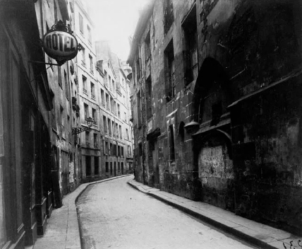 Rue de la Parcheminerie , 1899 Eugene Atget
